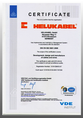 Helukabel-License ایزو 9001